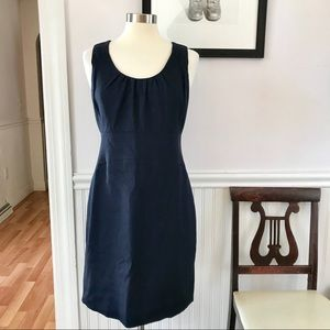 J. Crew Suiting Navy Blue Sheath Dress